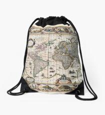 Map Nova totius terrarum orbis geographica (1635) Drawstring Bag