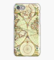 A new mapp of the world (1702) iPhone Case/Skin