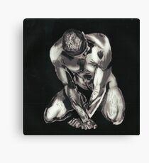 Black and White Beautiful Man Canvas Print