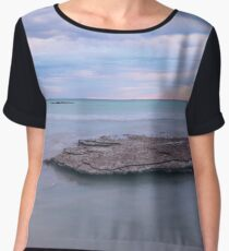 Cable Beach evening rocks sunset Chiffon Top