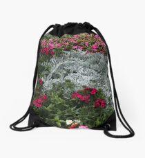 Mackinac Brigde Overlook Garden 2 Drawstring Bag
