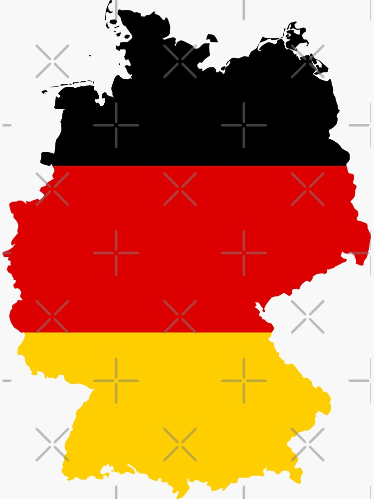 Germany Flag Map by limitlezz