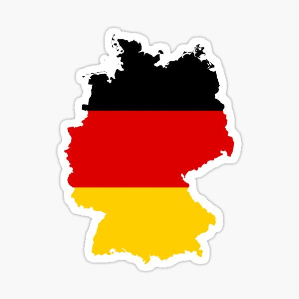 Germany Flag Map Sticker
