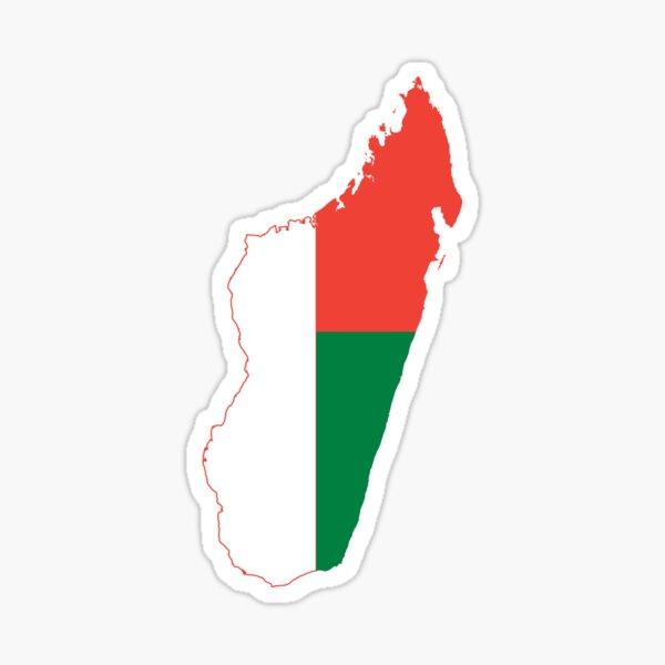 Madagascar Flag Map Sticker