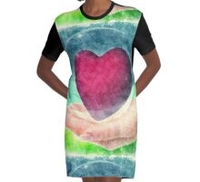 ART TO HEART 50% of profits goes to Relief For Japan http://donate-japan.com/ Graphic T-Shirt Dress