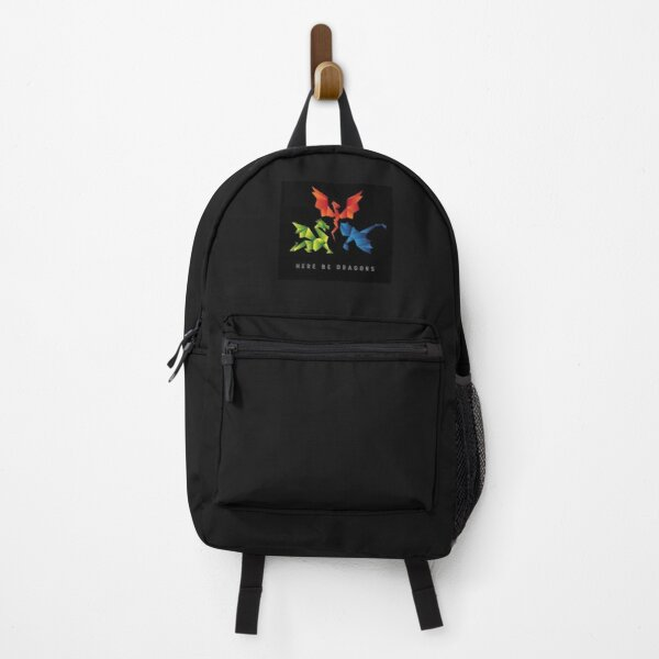 SCP-1762 Where The Dragons Went Origami Style Dragons Poster Backpack