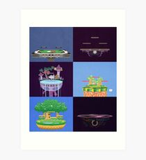 Melee Legal Stages Art Print