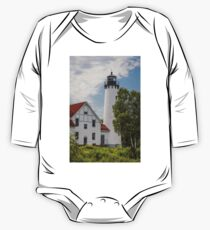 Point Iroquois Lighthouse - Michigan One Piece - Long Sleeve