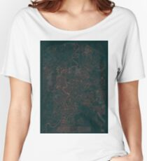 Rome Map Red Women's Relaxed Fit T-Shirt