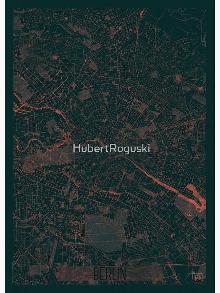 Berlin Map Red by HubertRoguski