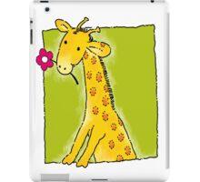 Girafe with flower iPad Case/Skin