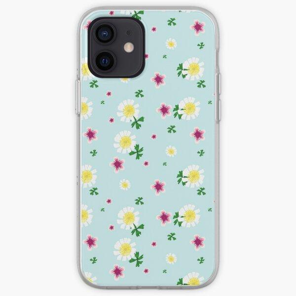 Manuka and Ranunculus - New Zealand Native Flowers iPhone Soft Case