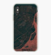 Montreal Map Red iPhone Case