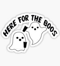 here for the boos  Sticker