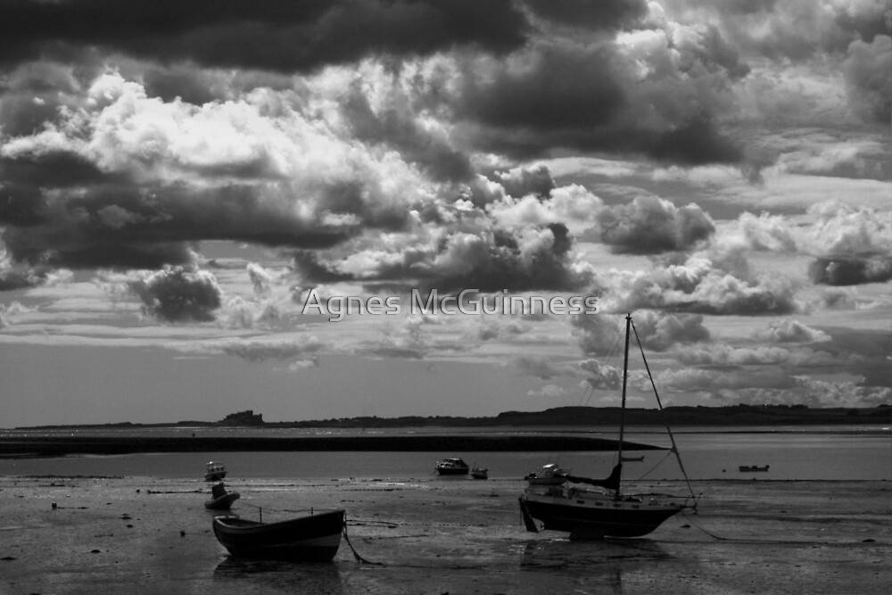 Boats at Lindisfarne by Agnes McGuinness