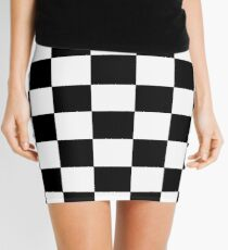 Black and White Checkerboard Mini Skirt