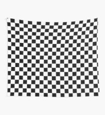 Schwarz-Weiß-Schachbrettmuster Wandbehang