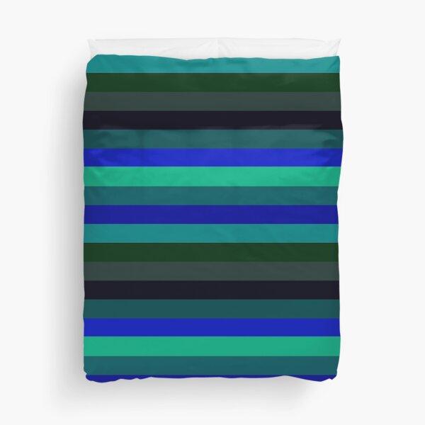 Ocean Temps Horizontally-Striped Duvet Cover