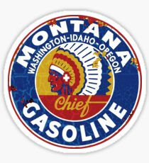 Montana Gasoline Sticker