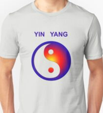 Yin Yang icon with text Unisex T-Shirt