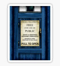 Free For Use Of Public - Tardis Door Sign - (please see notes) Sticker