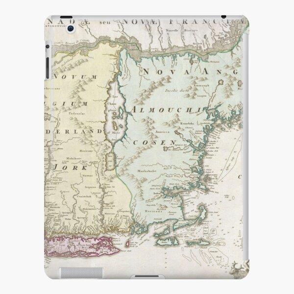 Vintage Map of New England (1716) iPad Snap Case