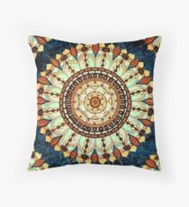 Nature's Soul Mandala Throw Pillow