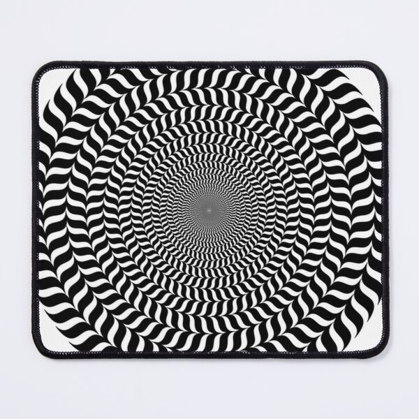 Psychedelic Hypnotic Visual Illusion Mouse Pad