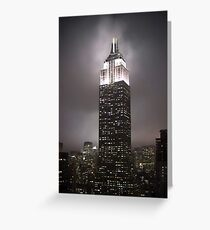 Empire State Building in the fog Greeting Card