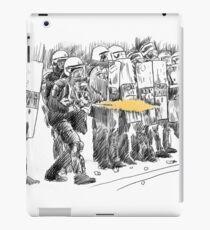 riot cops study iPad Case/Skin