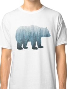 Misty Forest Bear - Turquoise Classic T-Shirt