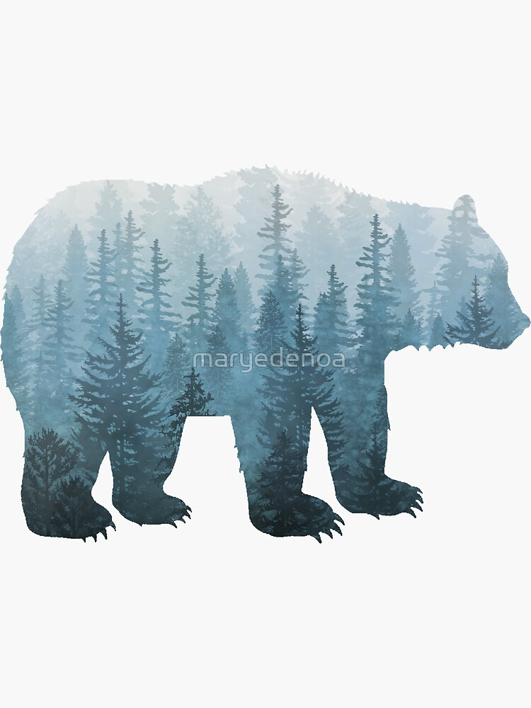 Misty Forest Bear - Turquoise by maryedenoa