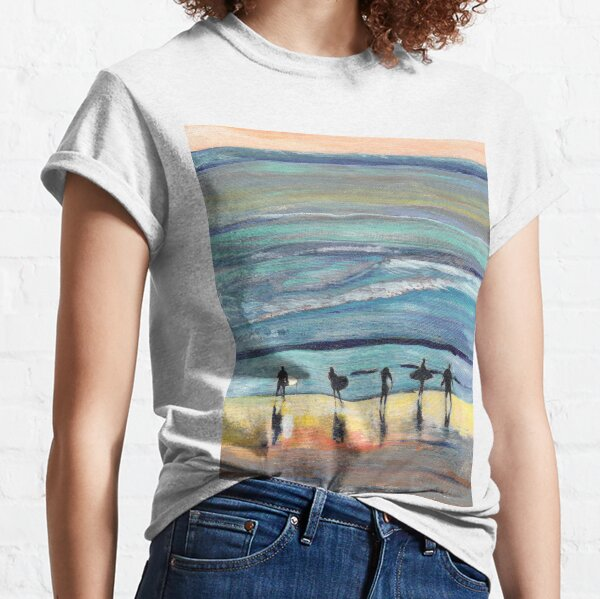 Day at Surfer Joe's by Riccoboni, Surfing Picture Classic T-Shirt
