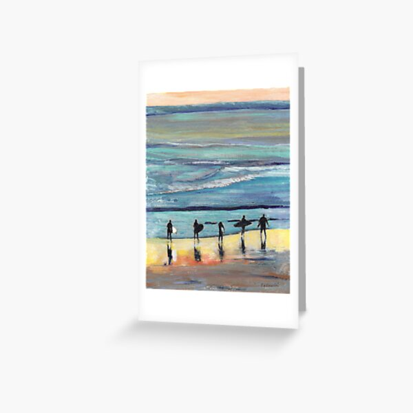 Day at Surfer Joe's by Riccoboni, Surfing Picture Greeting Card
