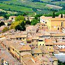 San Gimignano From Above..........................Tuscany by Fara
