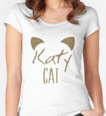 KatyCat Golden Glitter Women's Fitted Scoop T-Shirt