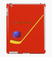 Hockey the cool sport iPad Case/Skin