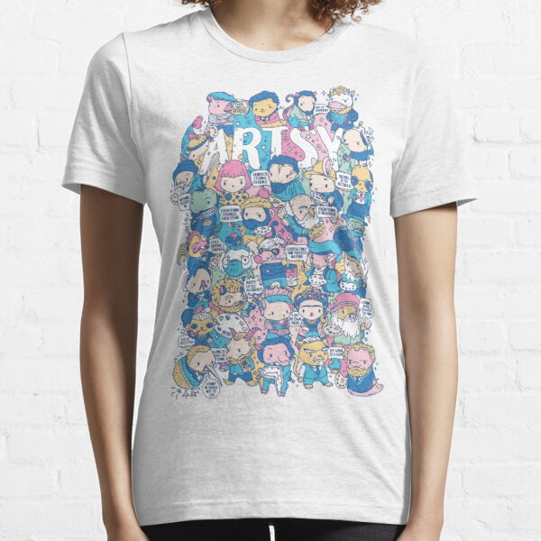 Artsy Doodle style artist animals puns characters Essential T-Shirt