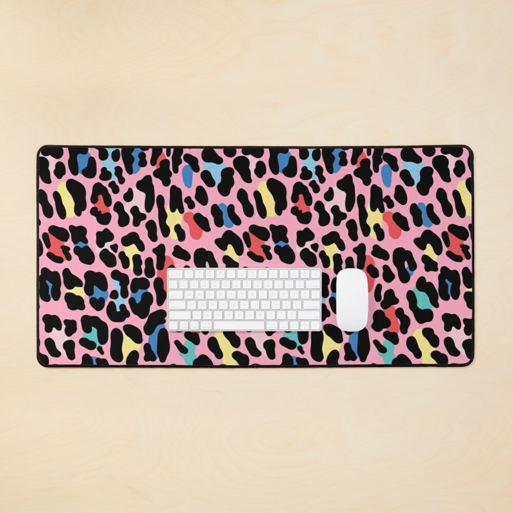 Rainbow leopard by Elebea Mouse Pad