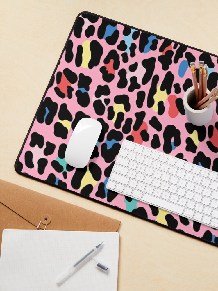 Alternate view of Rainbow leopard by Elebea Mouse Pad