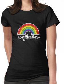 Vagitarian Funny LGBT Pride Rainbow Womens Fitted T-Shirt
