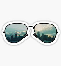 City Through Sunglasses Sticker