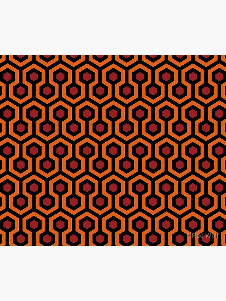 Geometric Pattern: Looped Hexagons: Orange/Red/Black by redwolfoz