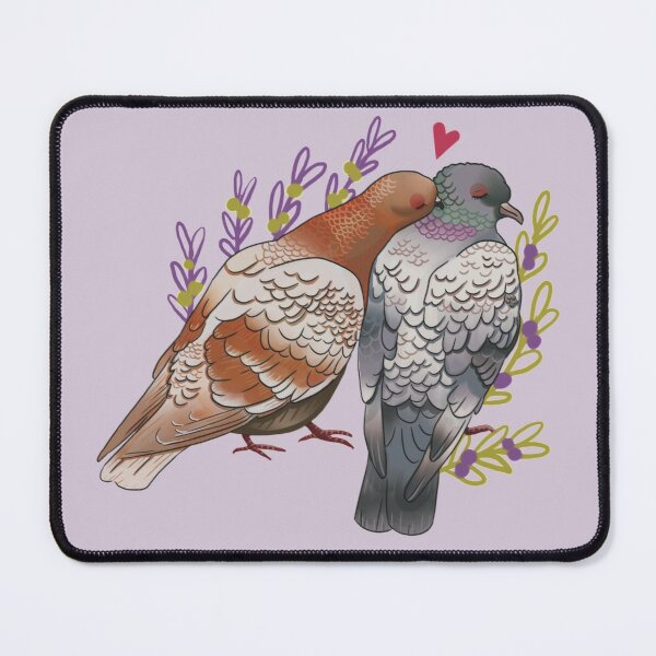 Pidgeons in love Mouse Pad