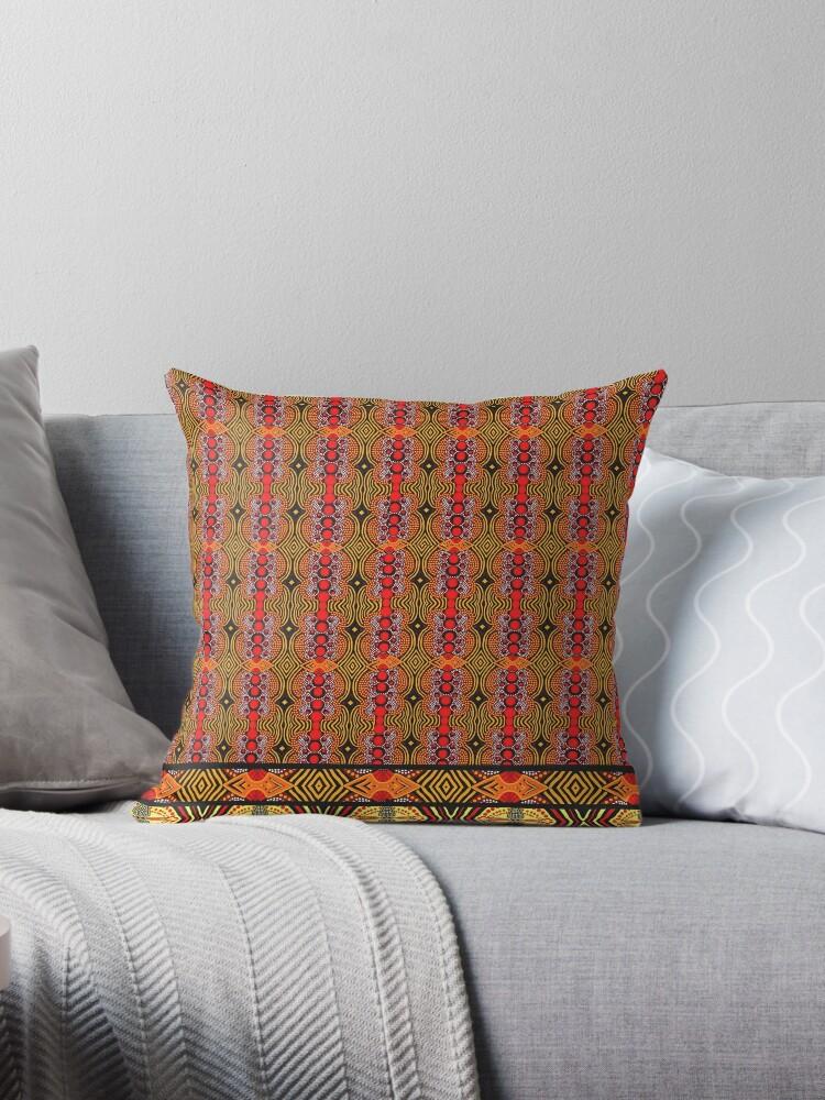 African Wax Print Throw Pillows By Lbehrendtdesign Redbubble