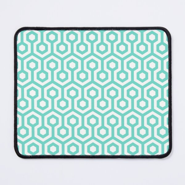 Geometric Pattern: Looped Hexagons: Blue Mouse Pad