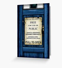 Free For Use Of Public - Tardis Door Sign - iPhone Case Greeting Card