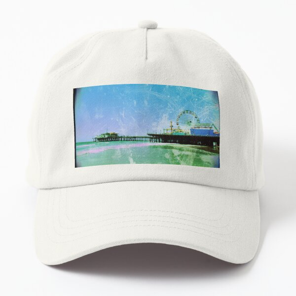 Blue and green Santa Monica Pier Dad Hat