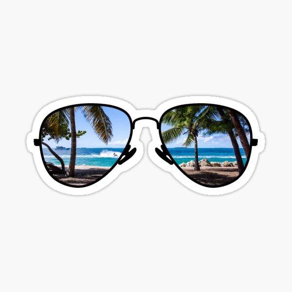 Palm Trees Through Sunglasses Sticker