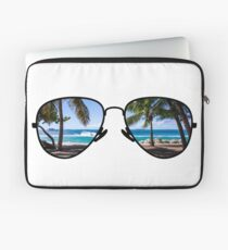 Palm Trees Through Sunglasses Laptop Sleeve